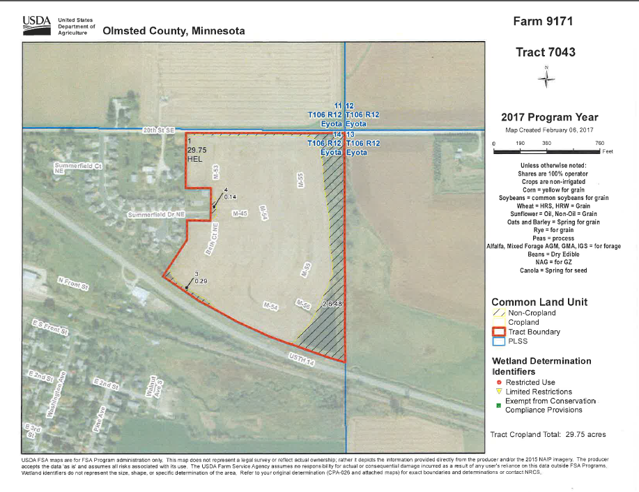 Land / Lots for Sale at 11 Miles East Of Rochester Eyota, Minnesota 55934