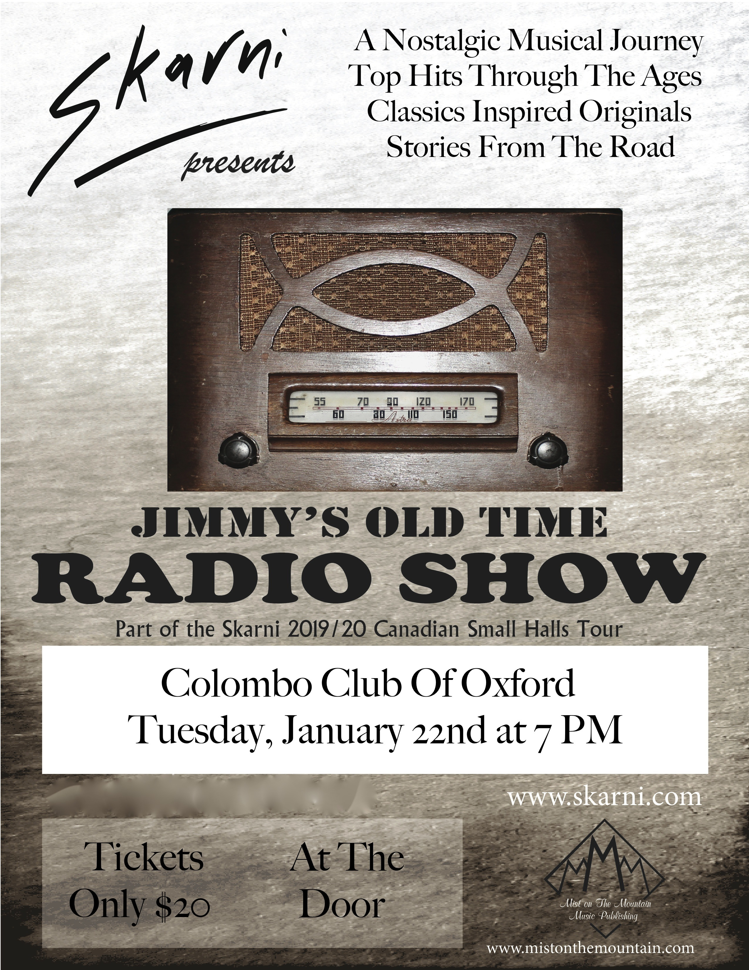 Ingersoll Times Classifieds | Jimmy's Old Time Radio Show