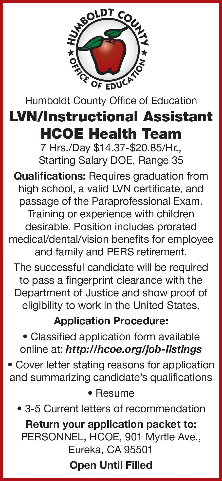 North Coast Journal Humboldt County Classifieds Employment